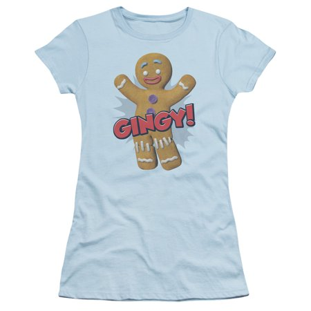 Shrek Gingy Juniors Short Sleeve Shirt
