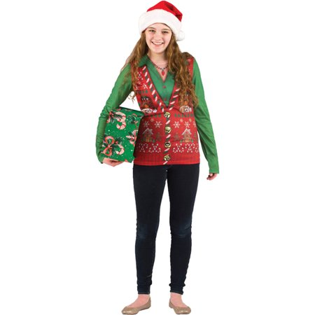 Morris Costumes Ladies Ugly Christmas Vest Lg