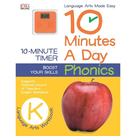 10 Minutes a Day: Phonics, Kindergarten : Supports National Council of Teachers English (Digital Video Standards Supported)