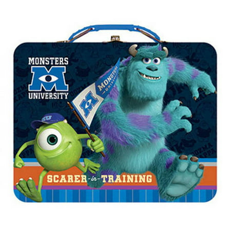 Monsters Inc University Metal Tin Lunch Box - Small Tin Boxes