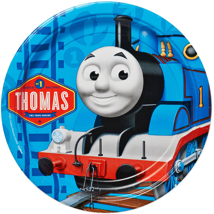 "Thomas and Friends 9"" Square Plate, 8 Count, Party Supplies"