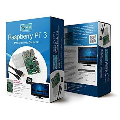 raspberry pi 3 model b media center kit