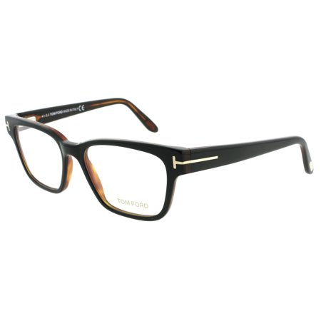dce0885302 Tom Ford TF 5288 005 49mm Black Brown Square Eyeglasses - Walmart.com