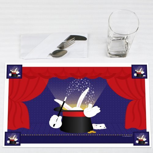 Magic Party Placemats Set of 12 by Big Dot of Happiness, LLC