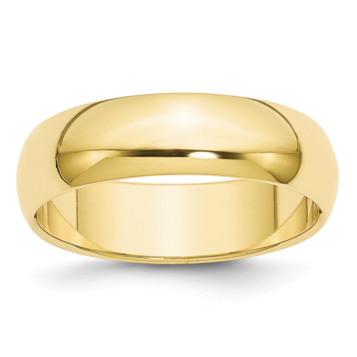 Roy Rose Jewelry 10K Yellow Gold 6mm Half Round Wedding Band Ring Size 9