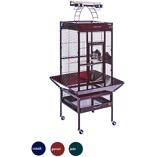 "Garnet Red Select Wrought iron Cockatiel Bird Cage 18""x18x57"""