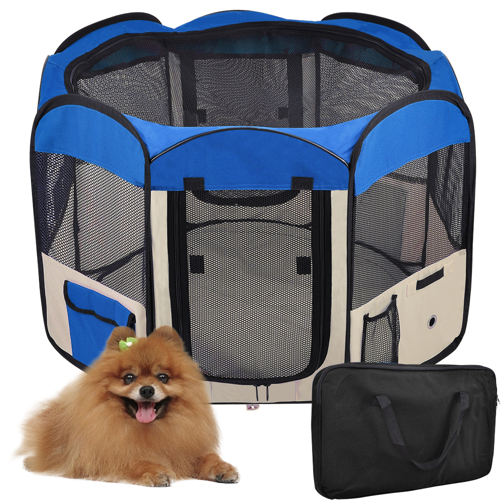 "Yescom 48""Large 2-Door Waterproof 600D Oxford Cloth Pet Playpen Dog Puppy Tent Exercise Kennel"