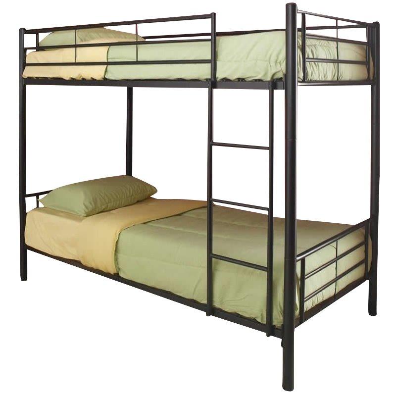 Rosebery Kids Metal Twin over Full Bunk Bed in Black