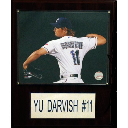 C&I Collectables MLB 12x15 Yu Darvish Texas Rangers Player Plaque by