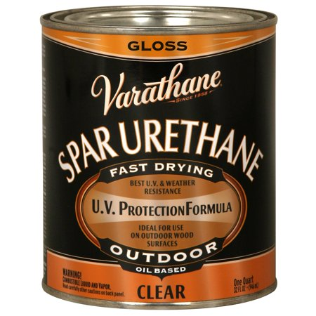 Varathane  242180H 1 Quart Crystal Clear Spar Urethane Exterior Oil Based