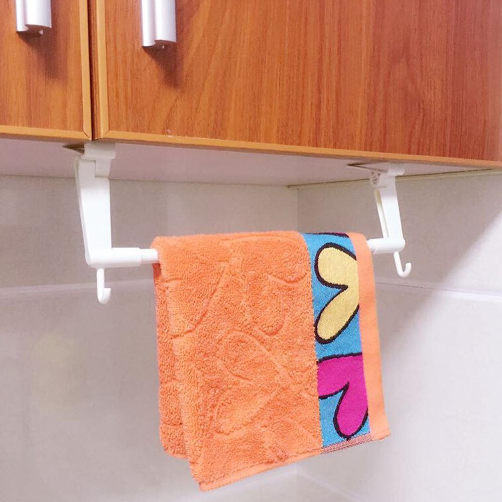 Bathroom Towel Door Hanger: Toilet Paper Bathroom Plastic Kitchen Towel Facial Rack
