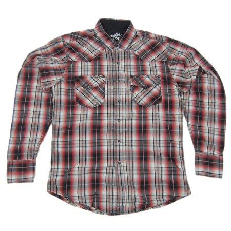 Mens NWT Wrangler 20X Twenty X Western Plaid Pearl Snap Shirt MJ1246M Any (Wrangler Pearl Snap)