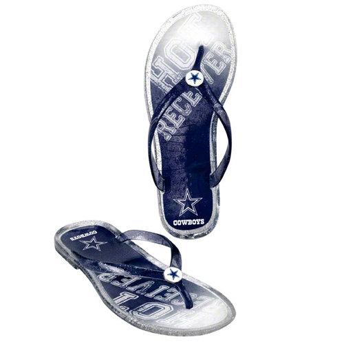 NFL - Dallas Cowboys Womens Slogan Jelly Flip Flop