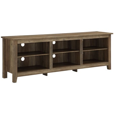 70 inch Wood Media TV Stand Storage Console in Rustic -