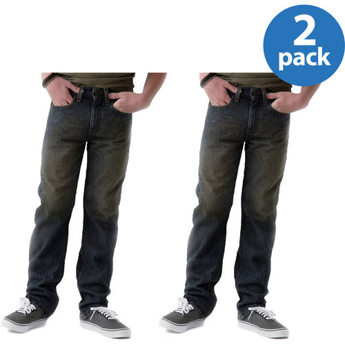 Signature By Levi Strauss & Co. Boys' Modern Straight Jeans 2 Pack Value Bundle
