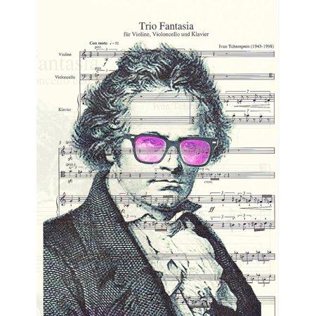 Art N Wordz Beethoven Wears Ray Bans Original Music Sheet Pop Art Wall or Desk Art Print (Original Ray Ban Shades)