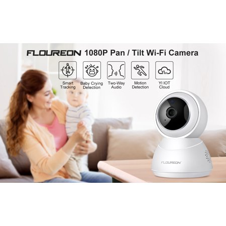 FLOUREON YI 1080p Home Camera, Indoor Wireless IP Security Surveillance  System with Night Vision for Home/Office / Baby/Nanny / Pet Monitor with  iOS,