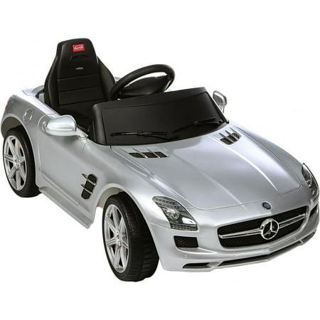 Rastar Licensed Silver Mercedes Benz Sls Amg Electric Rc Ride On Car