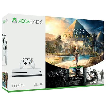 Xbox One S 1TB Console - Assassin's Creed Origins Bonus Bundle