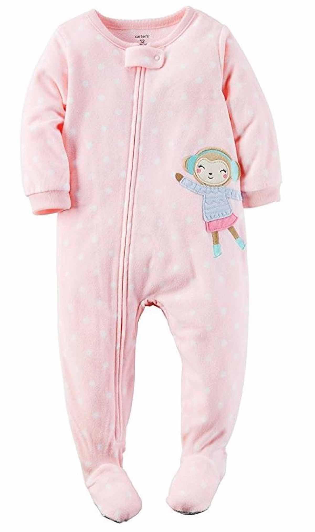 5bd660ee5 Carters Girls 1 Piece Footed Sleeper Zip Up Fleece Pajama (Mint ...