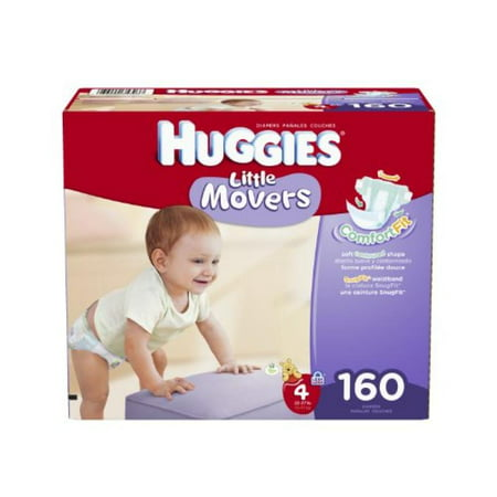 Huggies Little Movers Diapers Size 4 - 160 CT