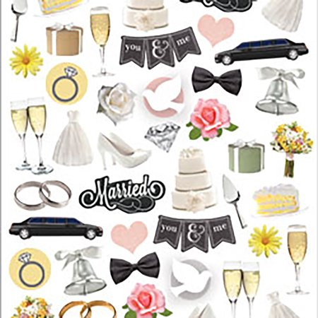 Paper House Life Organized Micro Stickers -Wedding Day