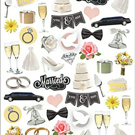Paper House Life Organized Micro Stickers -Wedding Day (Wedding Scrapbook Stickers)