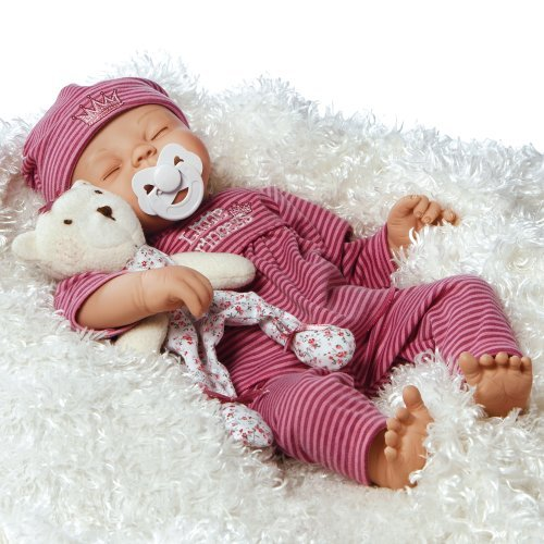 "Paradise Galleries Lifelike Realistic Soft Vinyl Weighted 16 inch Baby Girl  Doll Gift ""Little Princess"" Great to Reborn"