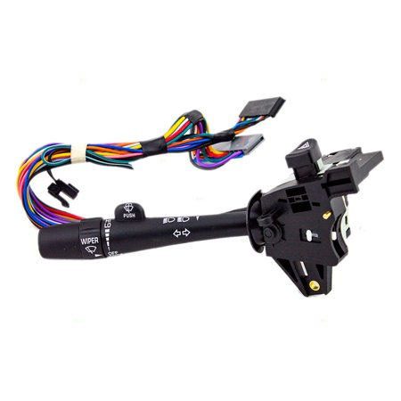 Chevelle Turn Signal Switch (BROCK Turn Signal Switch Wiper Dimmer Hazard Warning Lever Replacement for Buick Century Regal 88964579)