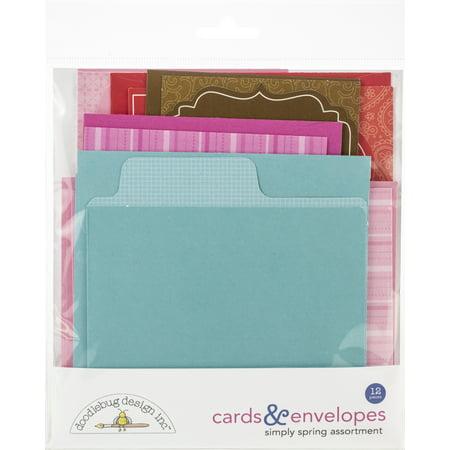 Doodlebug Cards & Envelopes 12/Pkg-French Kiss, 6 Cards/6 Envelopes - image 1 of 1