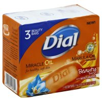 Dial Marula Oil Infused Beauty Bar, 3 Pack
