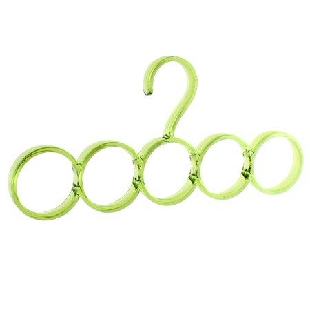 Closet Wardrobe Scarf Belt Necktie Hanging Hook Organizer Hanger 5 Rings