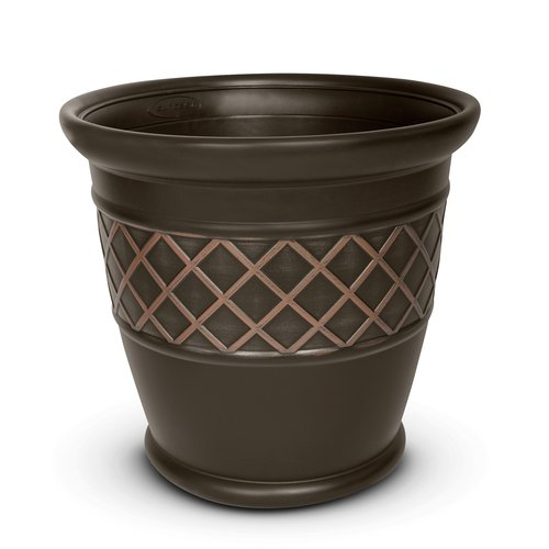 "Better Homes and Gardens 18"" Planter, Brown"