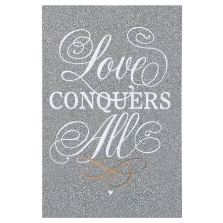 American Greetings Love Conquers All Wedding Card with Glitter ()