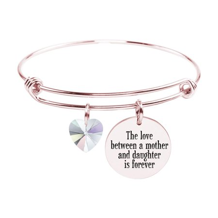 Adjustable Bangle with Crystals from Swarovski - LOVE BETWEEN MOTHER