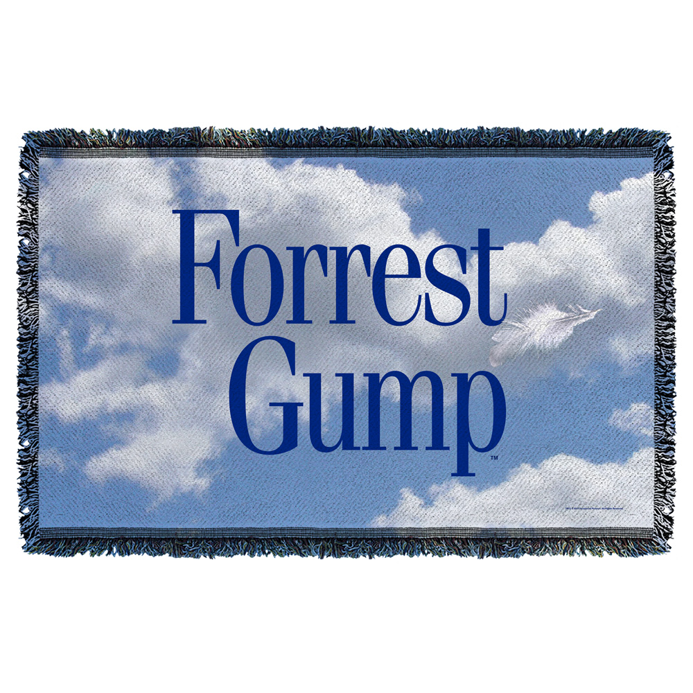 Forrest Gump Feather Woven Throw White 48X80