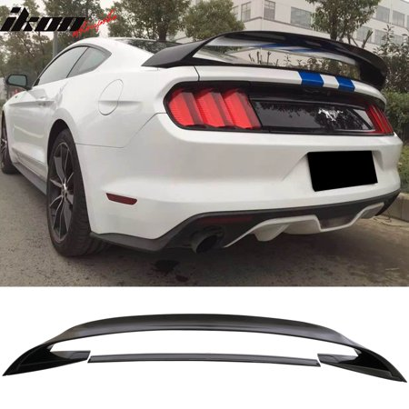 (Fits 15-18 Ford Mustang GT350 GT350R Style Trunk Spoiler Glossy Black ABS)