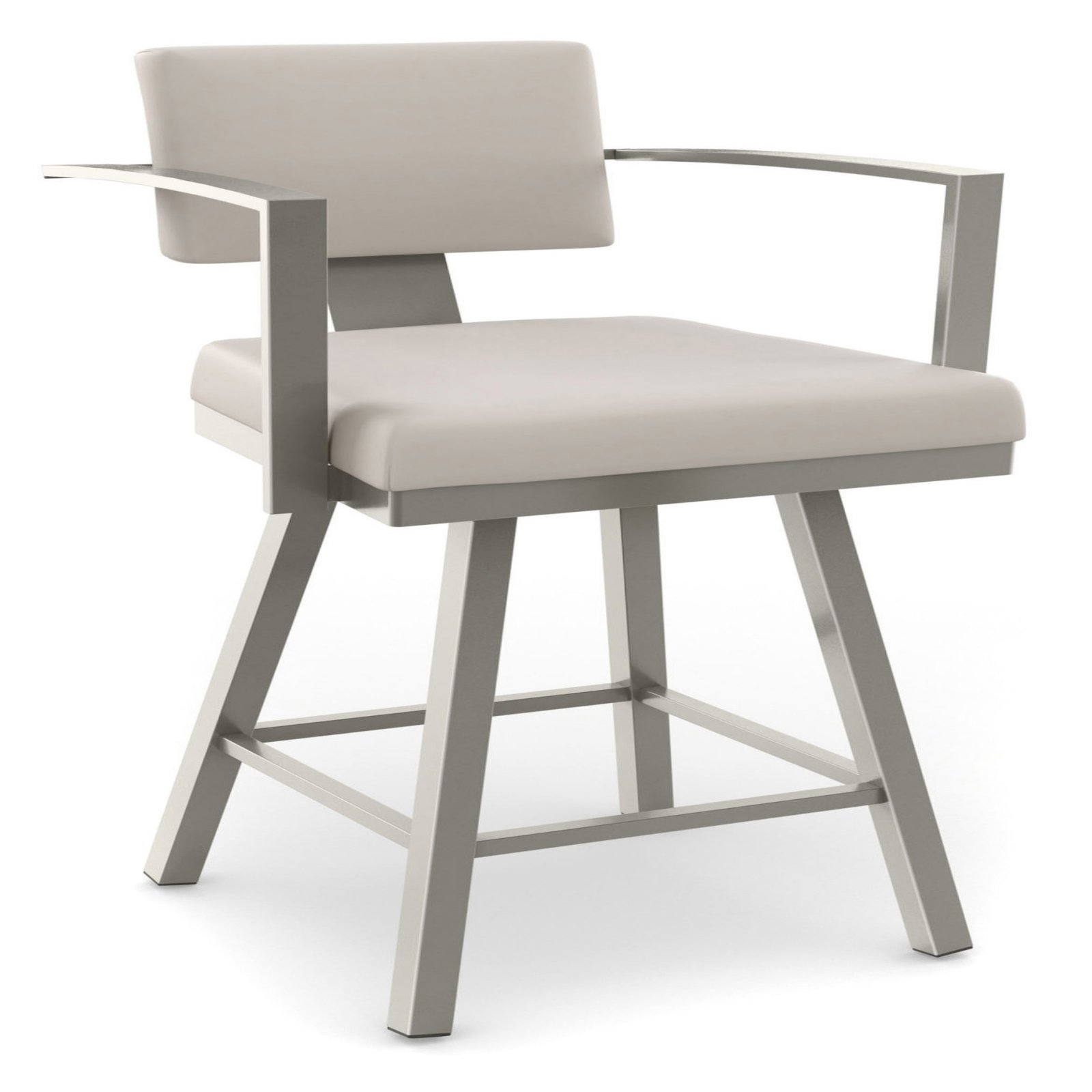 Amisco Akers Swivel Bar Stool With Arms 30 In Walmartcom