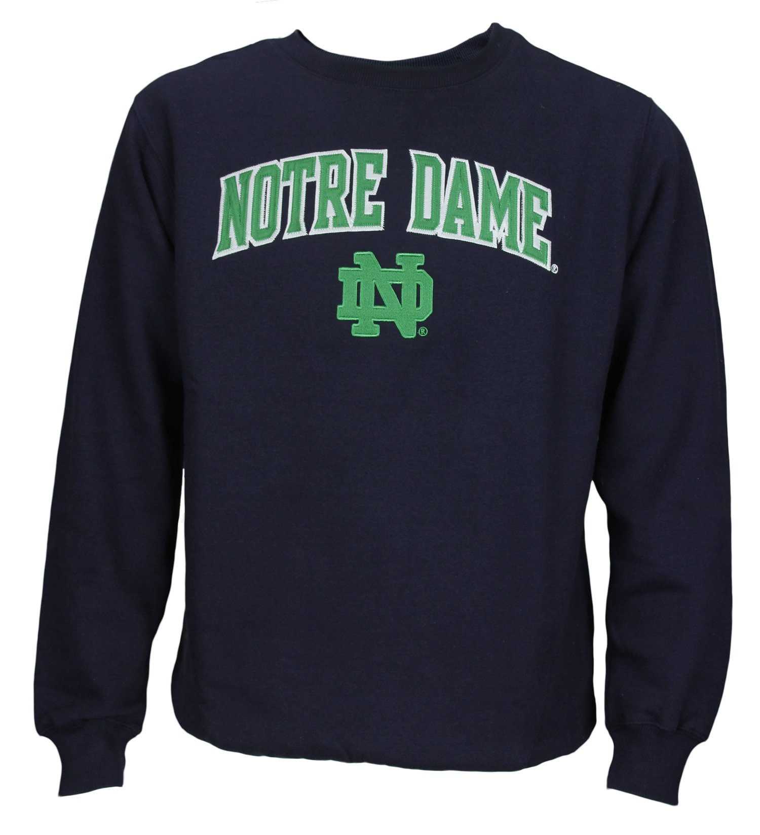 NCAA Men's Notre Dame Fighting Irish Logo Pullover Fleece Crew Sweatshirt
