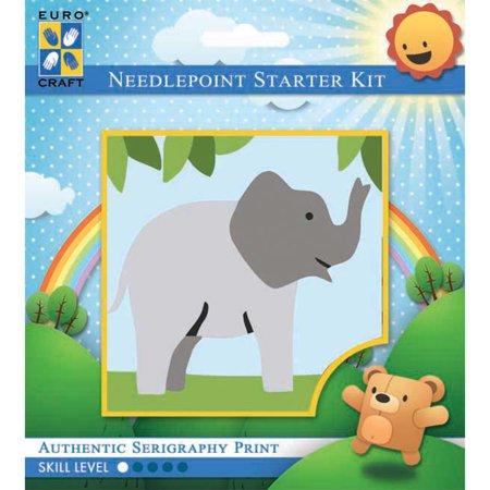 Elephant Needlepoint (Needleart World Needlepoint Kit 6