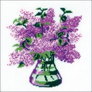 """Bunch Of Lilacs Counted Cross Stitch Kit-7.75""""X7.75"""" 15 Count"""