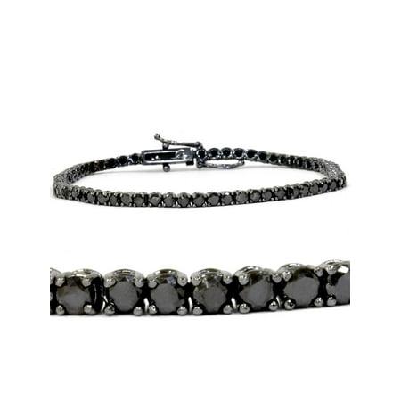 3ct Black Diamond Tennis Bracelet 14K Black Gold (3 Black 10 Bracelet)