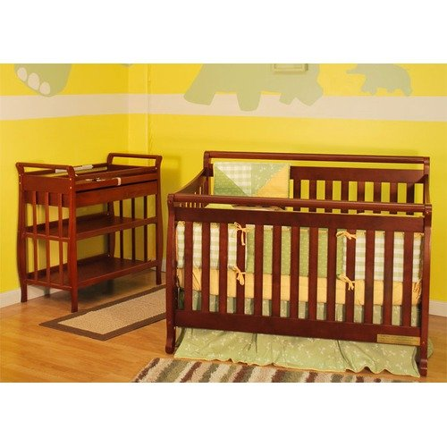 AFG Furniture Athena Amy Two Piece Convertible Crib Set in Cherry
