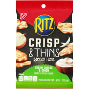 Nabisco Ritz Cream Cheese & Onion Crisp & Thins 1.7 oz. Bag
