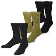 TeeHee Men's Mercerized Cotton Crew Dress Socks 3-pack (Cable)