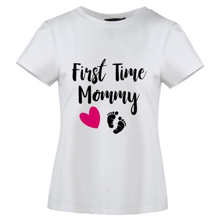 KABOER First Time Mommy Mom and Baby Cutest Gift Idea Women Mother's Day Gift T-shirt](Mommy And Baby Halloween Ideas)