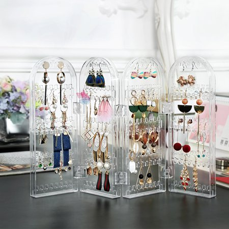 120 240 Holes Earring Holder Foldable Jewelry Display Stand Organizer