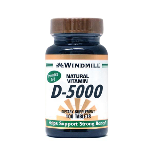 Vitamin D 5000 Iu Tablets - 60 Ea
