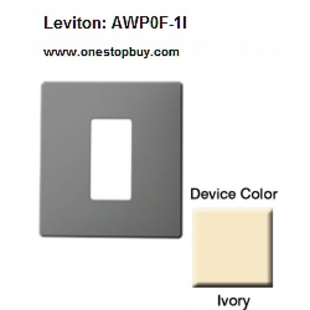 (Leviton AWP0F-1I Renoir II Wallplate 0 Narrow 1 Wide Dimmers - Ivory)