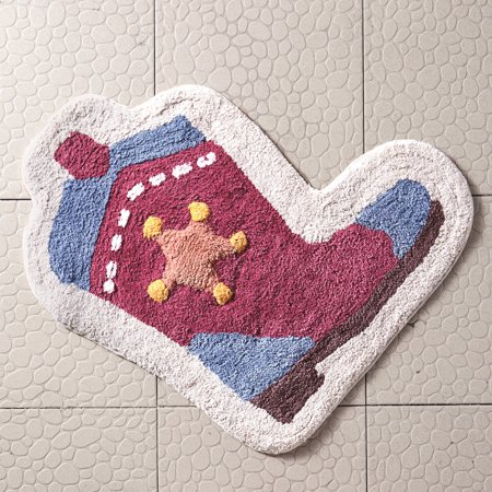 VCNY Home Big Believers Yeehaw Multi-Colored Cowboy Boot Kids Bath Rug